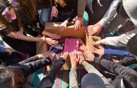 ערבות הדדית – תלמידות ותלמידי חטיבת רמון אספו מאות מוצרים לנערות ונשים במצבי סיכון