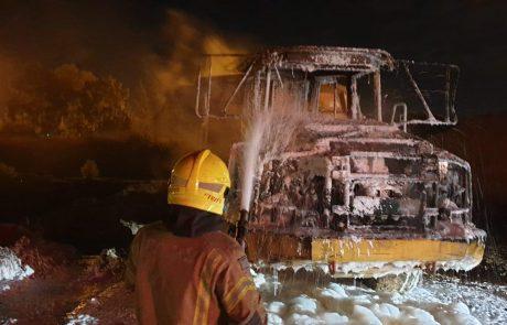 שריפת קוצים התגלתה כמשאית שרופה