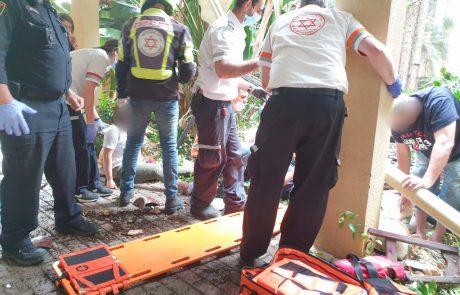 ארבעה פצועים בקריסת מרפסת בהרצליה